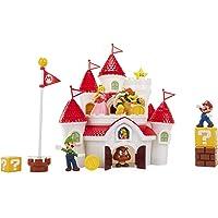 Nintendo Super Mario Mushroom Kingdom Castle Playset vídeo Juego, Juego de Castillo de Lujo, with 5 Figures and 4 Accessories