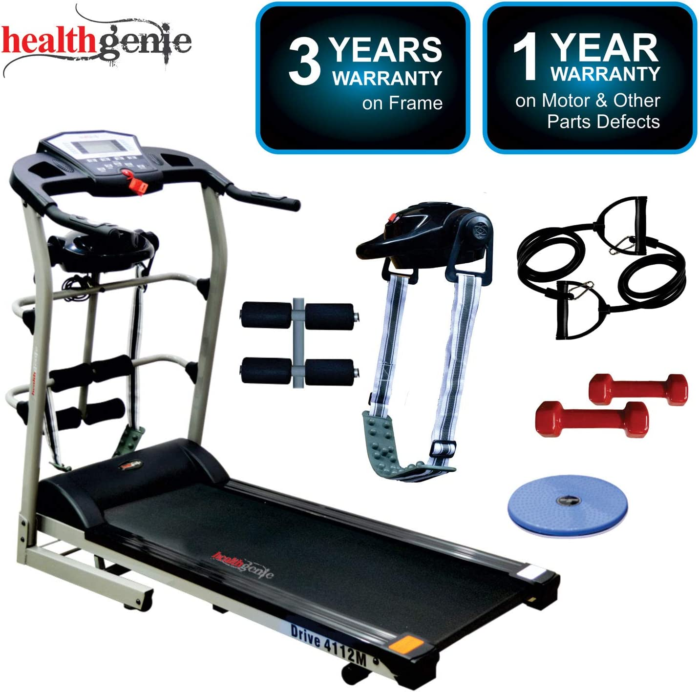 Healthgenie 4112M, 6in1 Motorized Treadmill