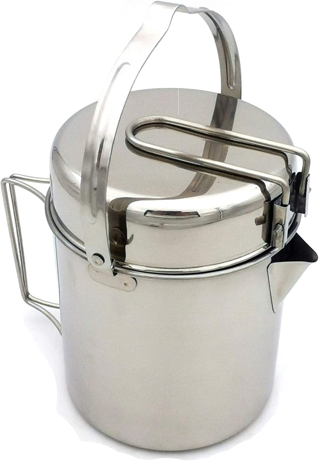 Campfire Hanging Cooking Kettle Cookware with Long Spout Outdoor Kettles Pot