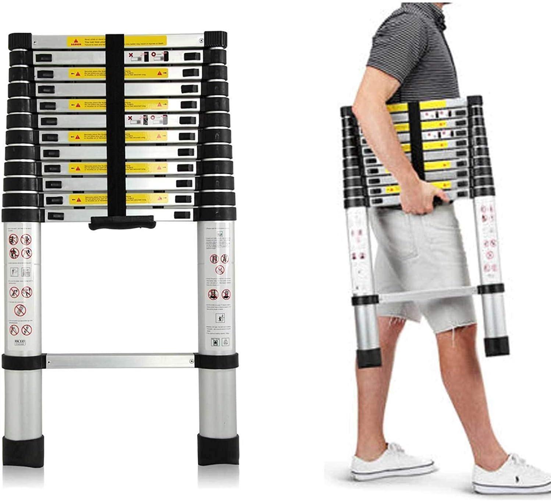 2.9 Meter Robust Multipurpose -Choice of 4 Handy Sizes Easy to Store Away Lightweight Groundlevel Aluminium Telescopic Ladders