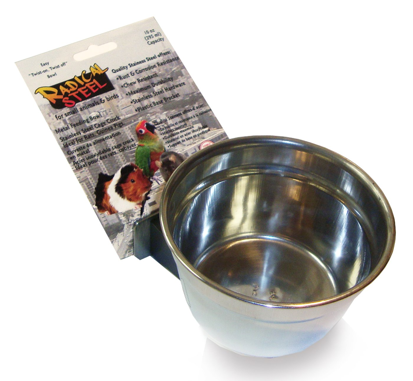 Lixit Animal Care Lixit Radical Steel Stainless Steel Crock, 10-Ounce