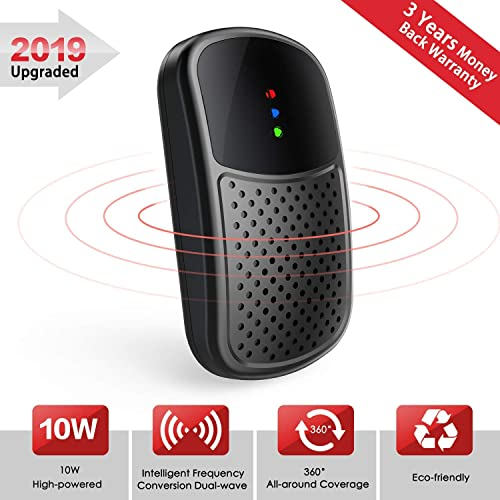 FITFORT Ultrasonic Pest Repeller Plug in - 2019 Upgraded Electronic Mouse Repeller, 10W High Power Frequency Conversion All Round Coverage Insect Control for Rat, Spider, Mosquito, Mice, Bug, Rodent