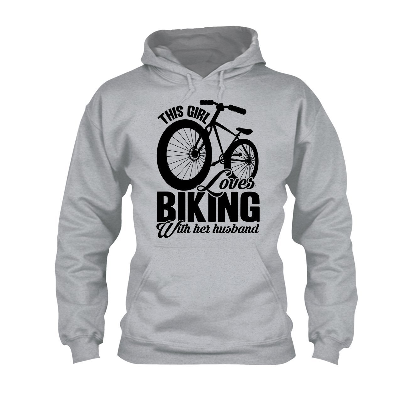 Loves Biking with Her Husband Tee Shirt Hoodie Cool Sweatshirt