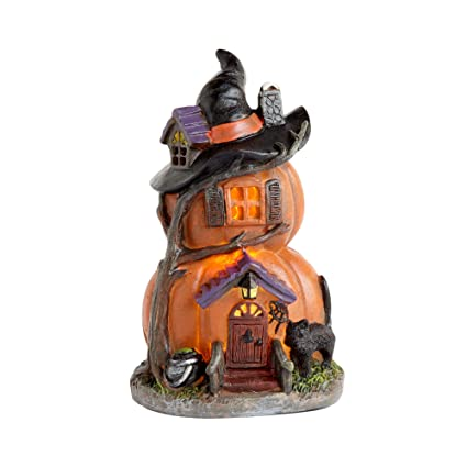 Enjoyable Amazon Com Ghi Stacked Pumpkin Led Haunted Witch House Download Free Architecture Designs Rallybritishbridgeorg