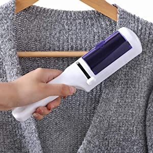 Nesee Home Static Dry Cleaning Brush Clothes Suction Hair Dusting Brush Decoration Multifunction Adjustable Holder Collision Protection Compact Design Easy to use