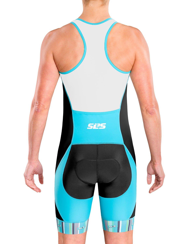 Womens Trisuits German Designed Anti-friction Seams Back Pocket Triathlon Suits SLS3 Women`s Triathlon Tri Race Suit FX