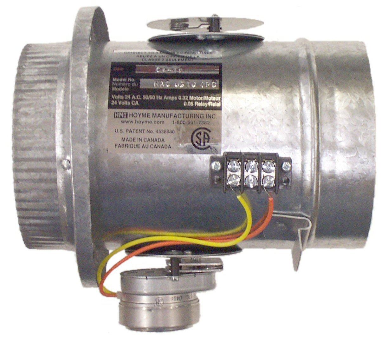 HMI Hoyme Manufacturing Inc. Universal Motorized Fresh Air Damper (Power Open) - 6''