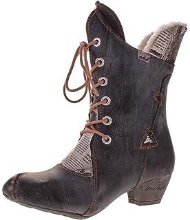 TMA Damen Winter Stiefel Echt Leder Comfort Boots gefüttert Schuhe 7011F Stiefeletten  Gr. 36- 61c97bb1f5