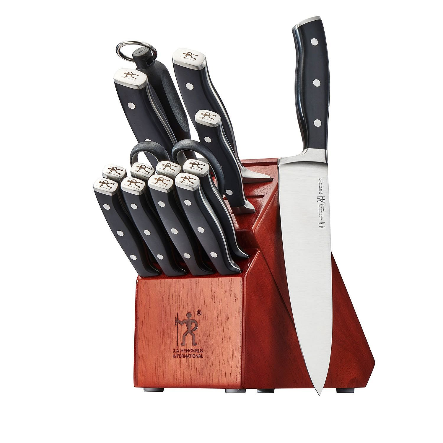 J.A. Henckels International Forged Accent 15-pc Knife Block Set