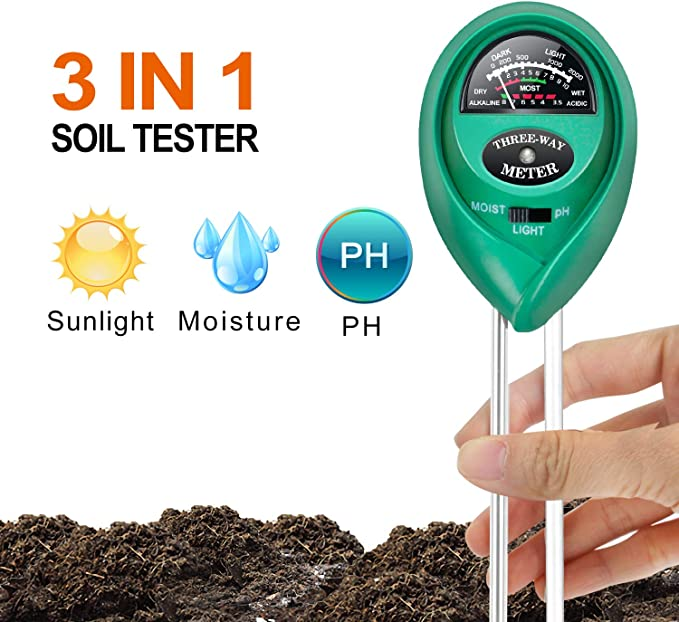 iPower LGTESTSOIL 3 in 1 Soil Test Meter - Multiple Applications