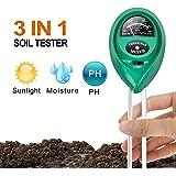 iPower Soil pH Meter, 3-in-1 Soil Test Kit for Moisture, Light & pH for Home and Garden, Lawn, Farm, Plants, Herbs & Gardening Tools, Indoor/Outdoor Plant Care Soil Tester