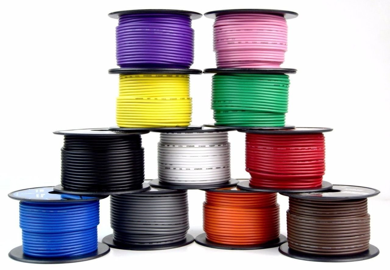 6 Rolls 18 gauge 100 Feet Power Cable Car Audio Primary Remote Wire Copper mix