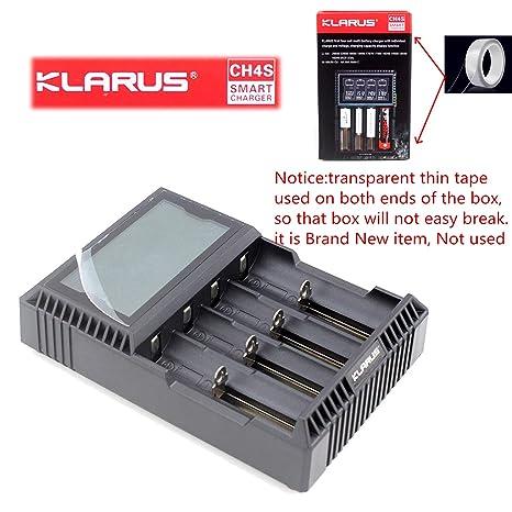 Amazon.com: Klarus CH4S Cargador LCD Cargador Klarus cuatro ...