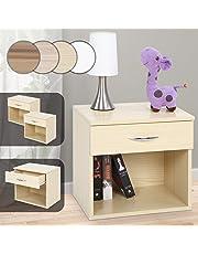 Miadomodo - Table de Chevet avec 1 tiroir et Espace de Rangement - Coloris ET QUANTITÉ AU Choix