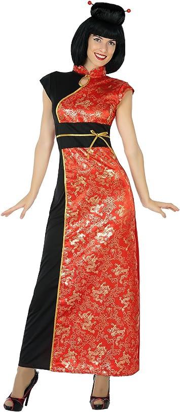 Atosa-17351 Disfraz China, Color Rojo, M-L (17351): Amazon.es ...