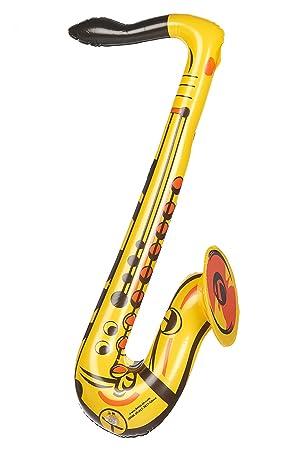 Saxofón inflable amarillo: Amazon.es: Juguetes y juegos