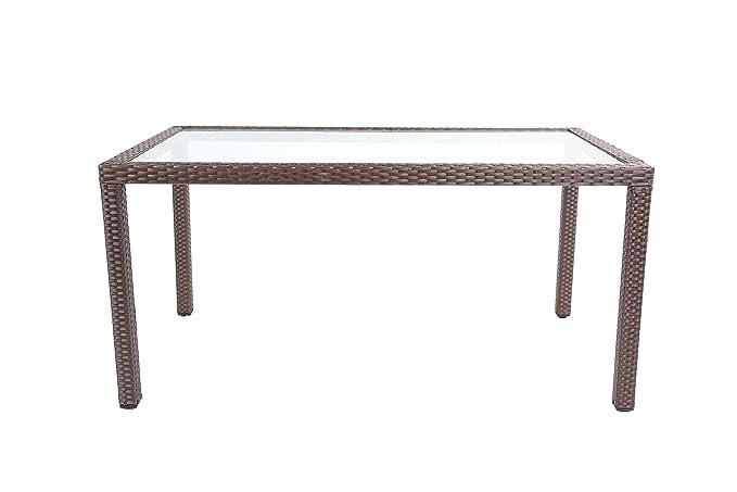 Baner Garden Outdoor Furniture Complete Patio 7Piece Pe Wicker Rattan  Garden Dining Set, (N16-CH), Chocolate