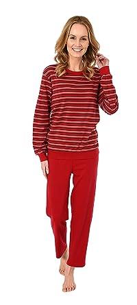 fedf6c3e43784c Normann Copenhagen Damen Pyjama Langarm mit Bündchen in Kuschel Interlock -  auch in Übergrössen 281 201