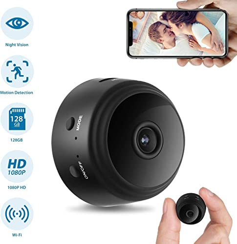 Hidden Camera 2020 Latest Mini WiFi Hidden Cam, HD 1080P Home Security Camera with Night Version, 150 Wide-Angle Nanny Cam with Motion Detection, Indoor Outdoor Wireless Camera Video Recorder