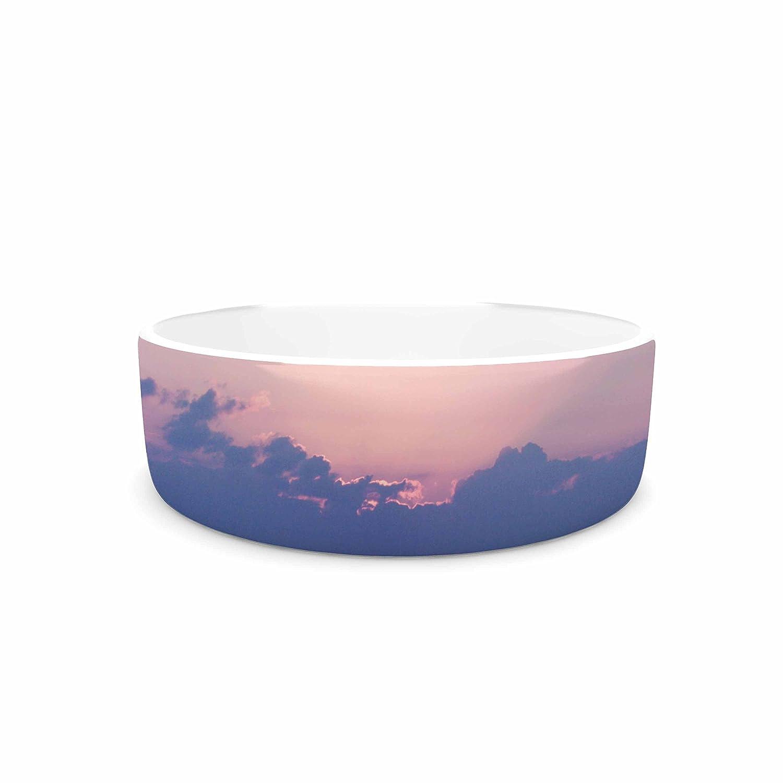 7\ KESS InHouse Angie Turner Purple Sunrise  bluee Pink Pet Bowl, 7
