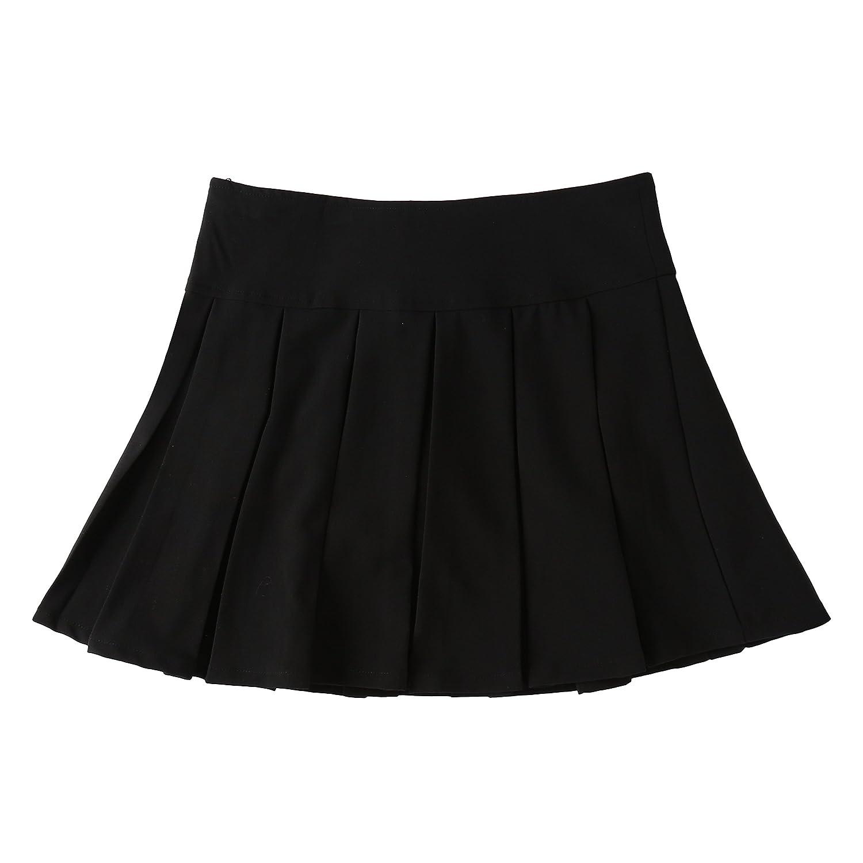 Bienzoe Girls Skirt Girls Pleated Hem School Uniform Dance Skirt