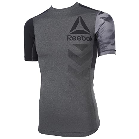 b92dc970 Reebok Men's Active Chill Graphic Short Sleeve T-Shirt, Grey/Brgros, Small