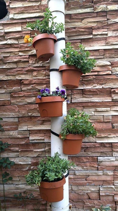 Macetero cuadrado – Tubos de drenaje Jardín Macetas 3 piezas/lote Terracota Efecto Tubos Drenaje Tubo Jardín Maceteros: Amazon.es: Jardín