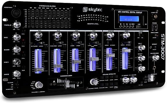 Skytec STM-3007 - Mesa de Mezclas 6 Canales Bluetooth USB ...