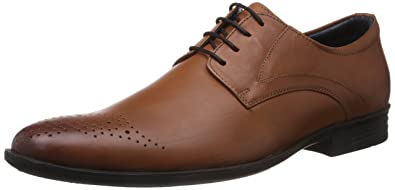 d17efdb89a998 Hush Puppies Men's London Derby Gold Leather Formal Shoes - 8 UK/India (42