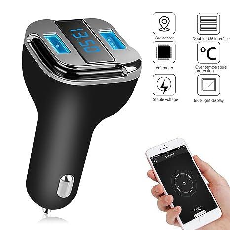 Cargador de coche Tracker, EEEKit 4,2 A Dual USB carga rápida carga inteligente