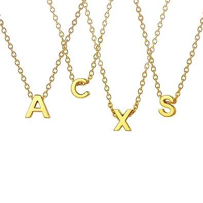 Amazon.com: U7 - Gargantilla con letra del alfabeto para ...