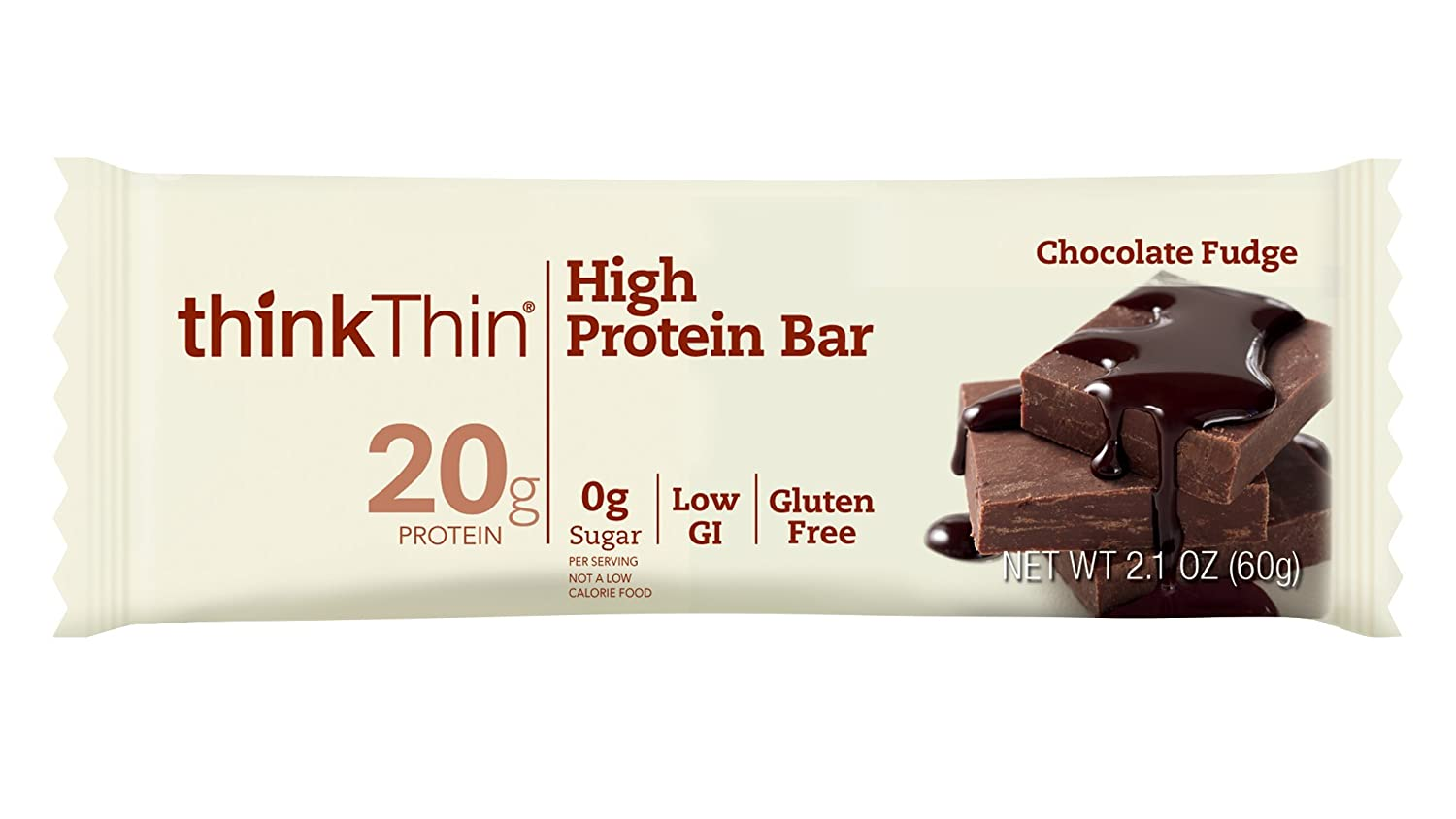 thinkThin High Protein Bars, Chocolate Fudge
