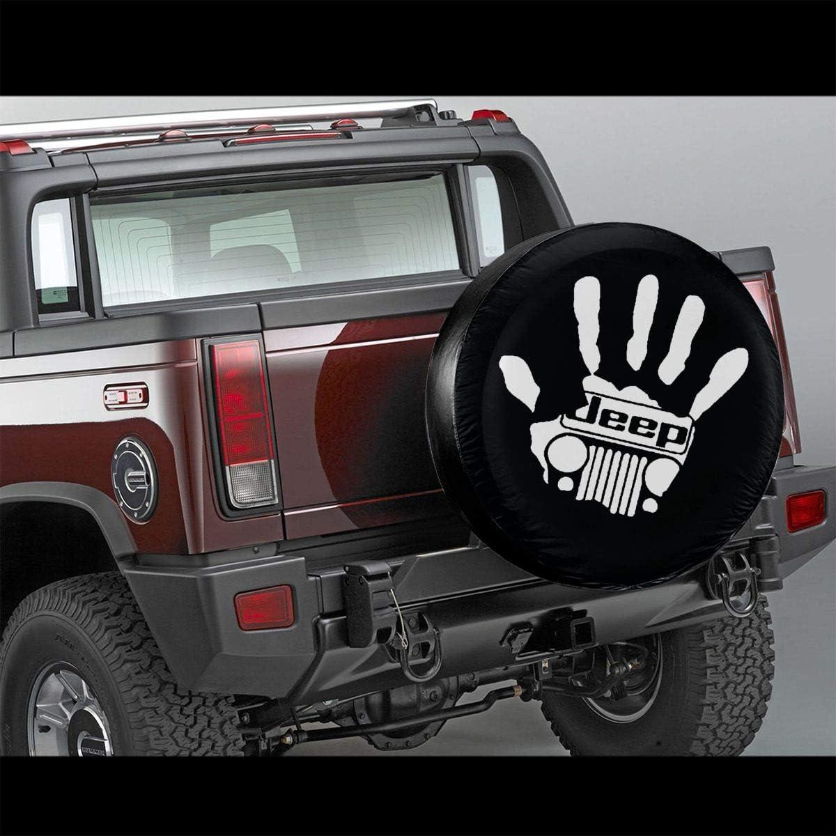 Pour Jeep remorque Housse de pneu de rechange pour pneus camion Protection solaire imperm/éable /à leau et /à la poussi/ère Personnalisable En polyester Veelu SUV RV