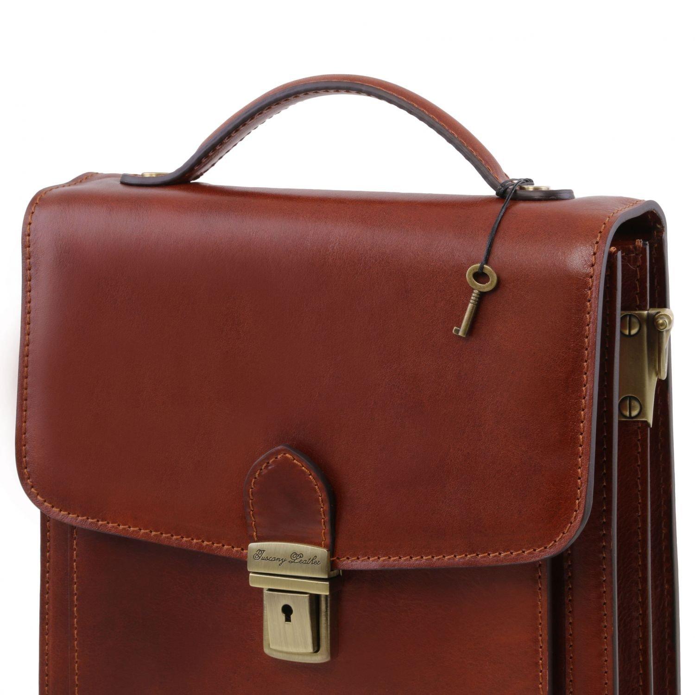 Tuscany Leather David Elegante Herrentasche aus Kalbsleder - Gross Braun:  Amazon.de: Koffer, Rucksäcke & Taschen