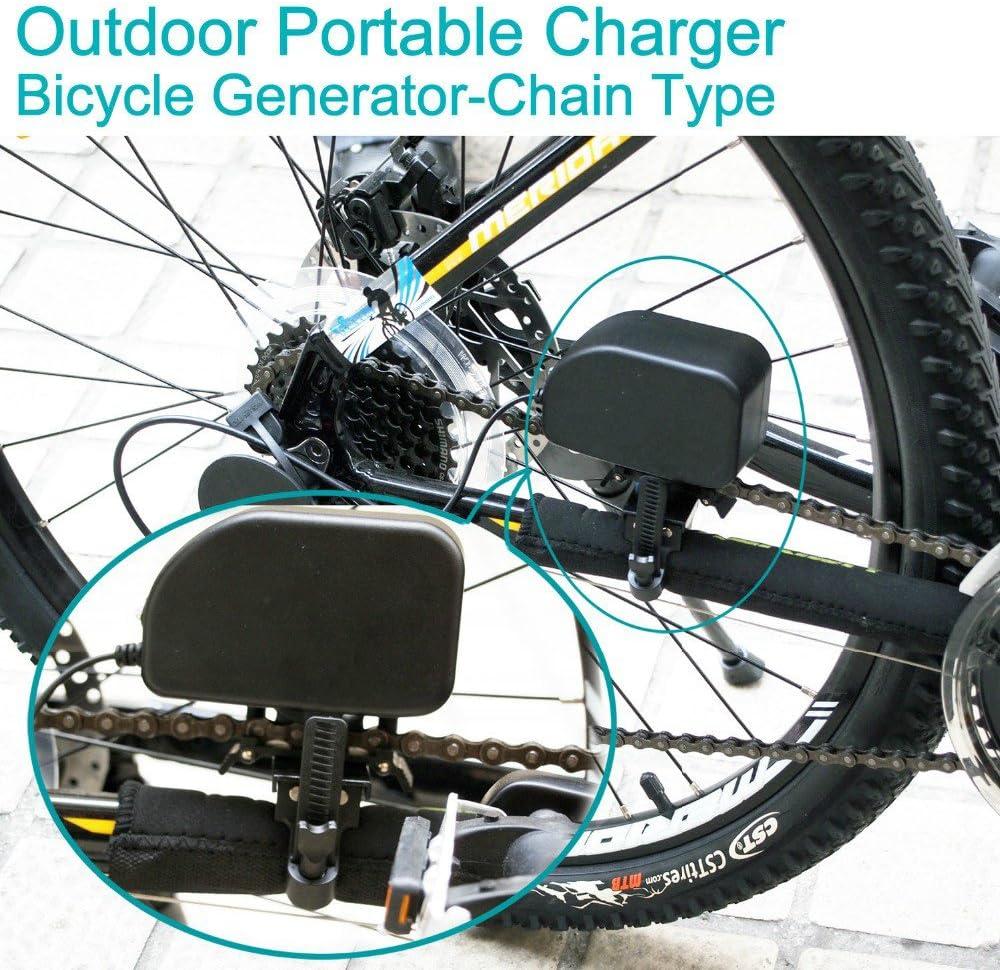 Generador de dinamo para bicicleta/bicicleta de batería cargador dinamo para bicicleta con USB por HCW: Amazon.es: Deportes y aire libre
