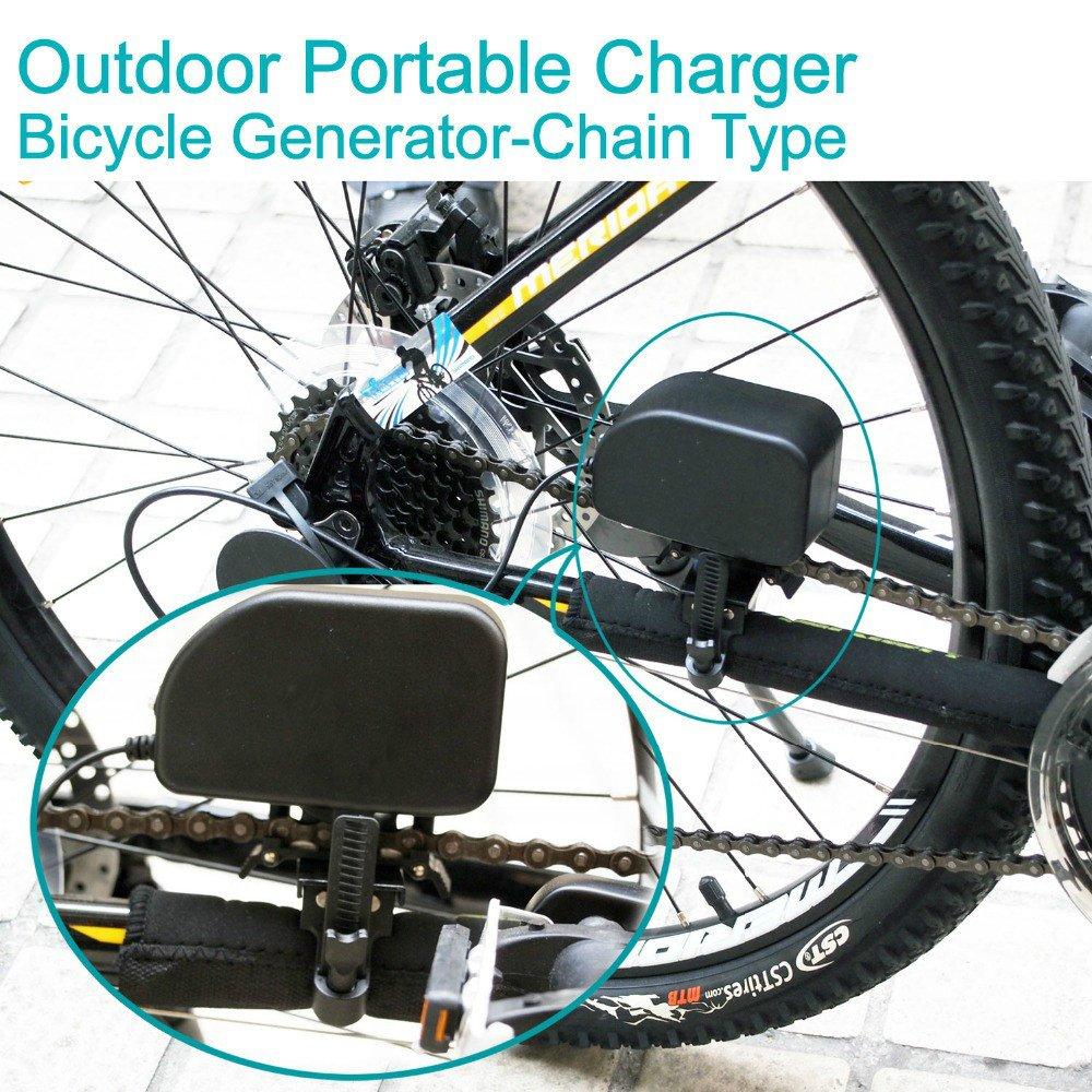 Amazon.com: Dinamo de bicicleta/bicicleta generador cargador ...