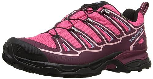 Salomon X Ultra II GTX - Botas para mujer, Rosa (hot pink/bordeaux/pebble blue), 39 1/3: Amazon.es: Zapatos y complementos