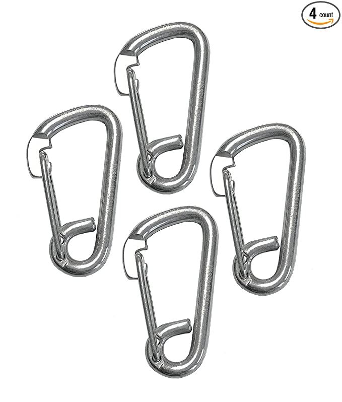 Amazon Com 4 Pieces Stainless Steel 316 Spring Hook Carabiner 14