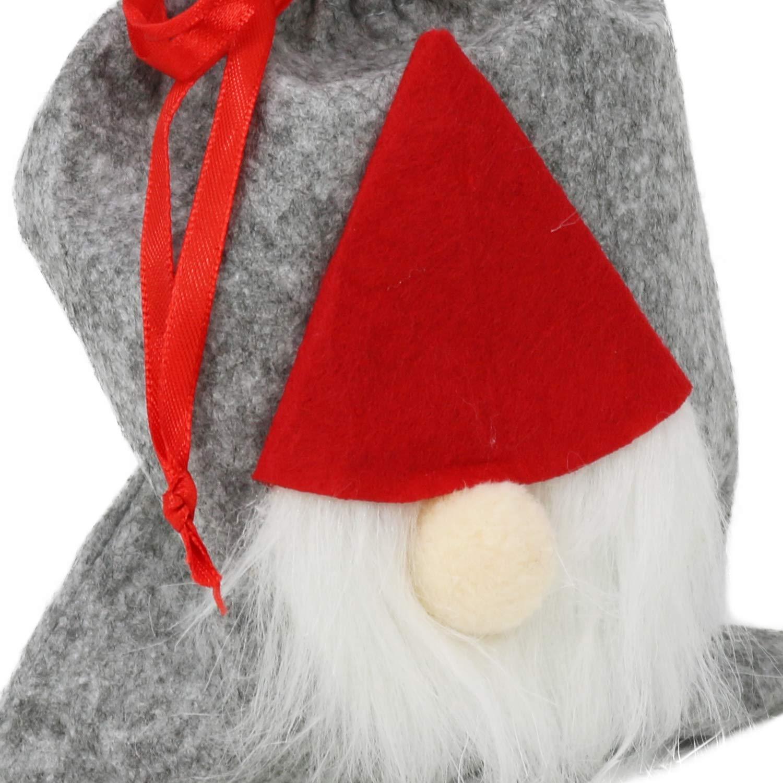 borsa regalo per Natale 04 pezzi - borsa in feltro Pupazzo di neve // Babbo Natale COM-FOUR/® 4x borsa in feltro XXL con manico in motivi natalizi Babbo Natale e Avvento 17 x 10 cm