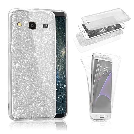 Funda Samsung Galaxy S3 i9300 / S3 Neo i9301 ,Sunroyal Estuche Carcasa Frontal Atrás TPU 360 Grados Protección Case Cover el Glittery Bling ...