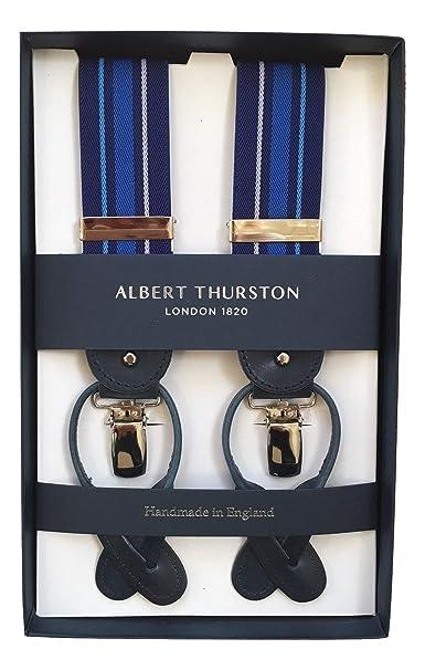 100% originale brillantezza del colore seleziona per il più recente Albert Thurston - Bretelle - Uomo Blu Blau-gestreift Taglia ...