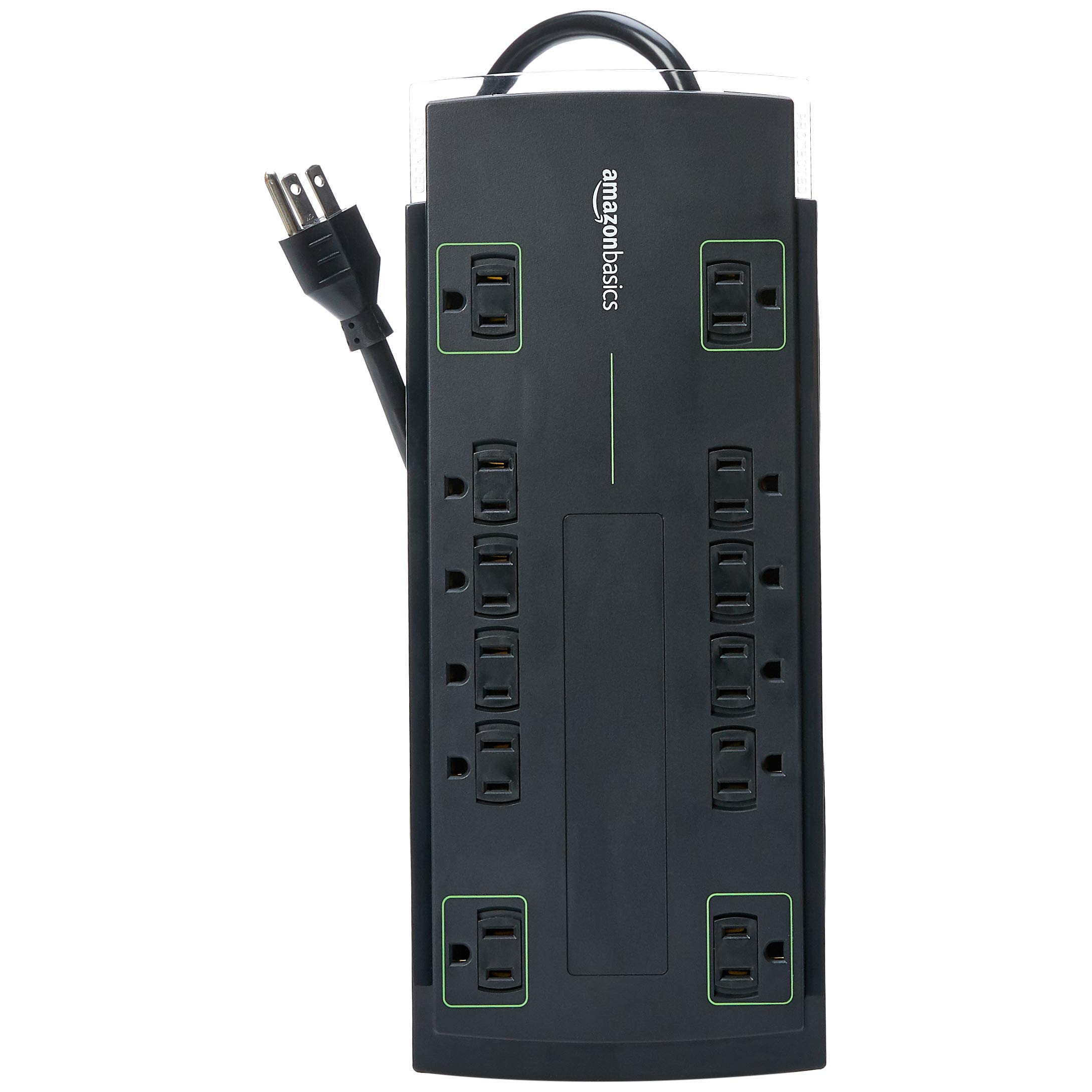 AmazonBasics 12-Outlet Power Strip Surge Protector   4,320 Joule, 8-Foot Cord by AmazonBasics (Image #3)
