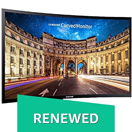 (Renewed) Samsung 27 inch (68.6 cm) Curved LED Backlit Computer Monitor - Full HD, VA Panel with VGA, HDMI, Audio Ports - LC27F390FHWXXL (Black) Monitors at amazon
