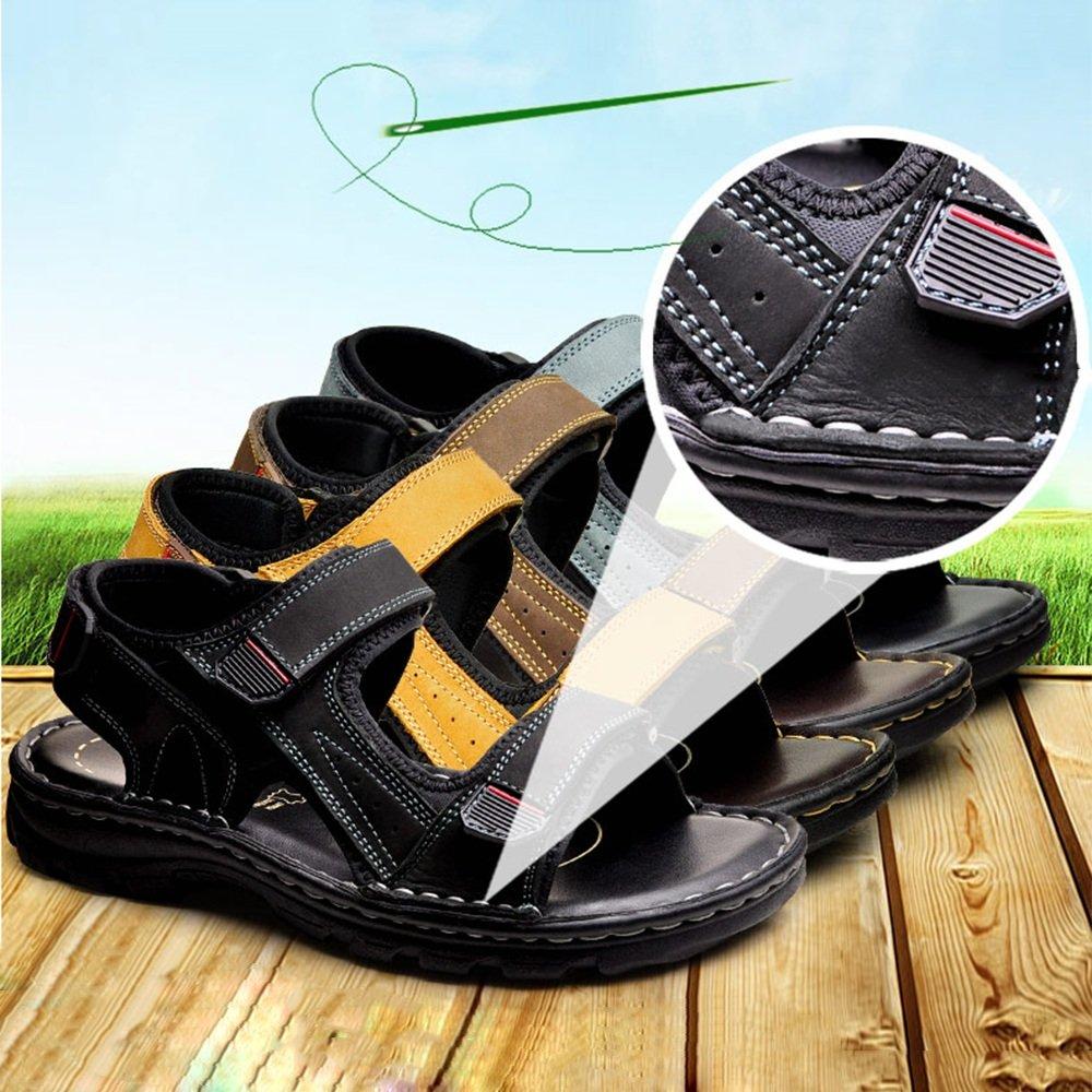 Hausschuhe HUO Sandalen Sommer Männlichen Männlichen Männlichen Outdoor Casual Bewegung Strand Schuhe Mode Weichen Boden (Farbe   Schwarz, größe   EU41 UK7.5-8 CN42) 0307e6