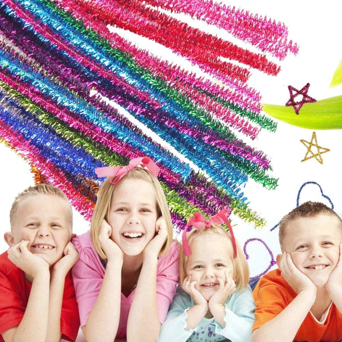 School Projec Crafts /& Decorations Assorted Pom Pom Balls Craft Kit with 6 Sizes Pompoms,2 Sizes Multicolor Glitter Pompoms,4 Sizes Wiggle Eyes,2 Sizes Mascara Eyes for for DIY 2100 Pieces Pom Poms