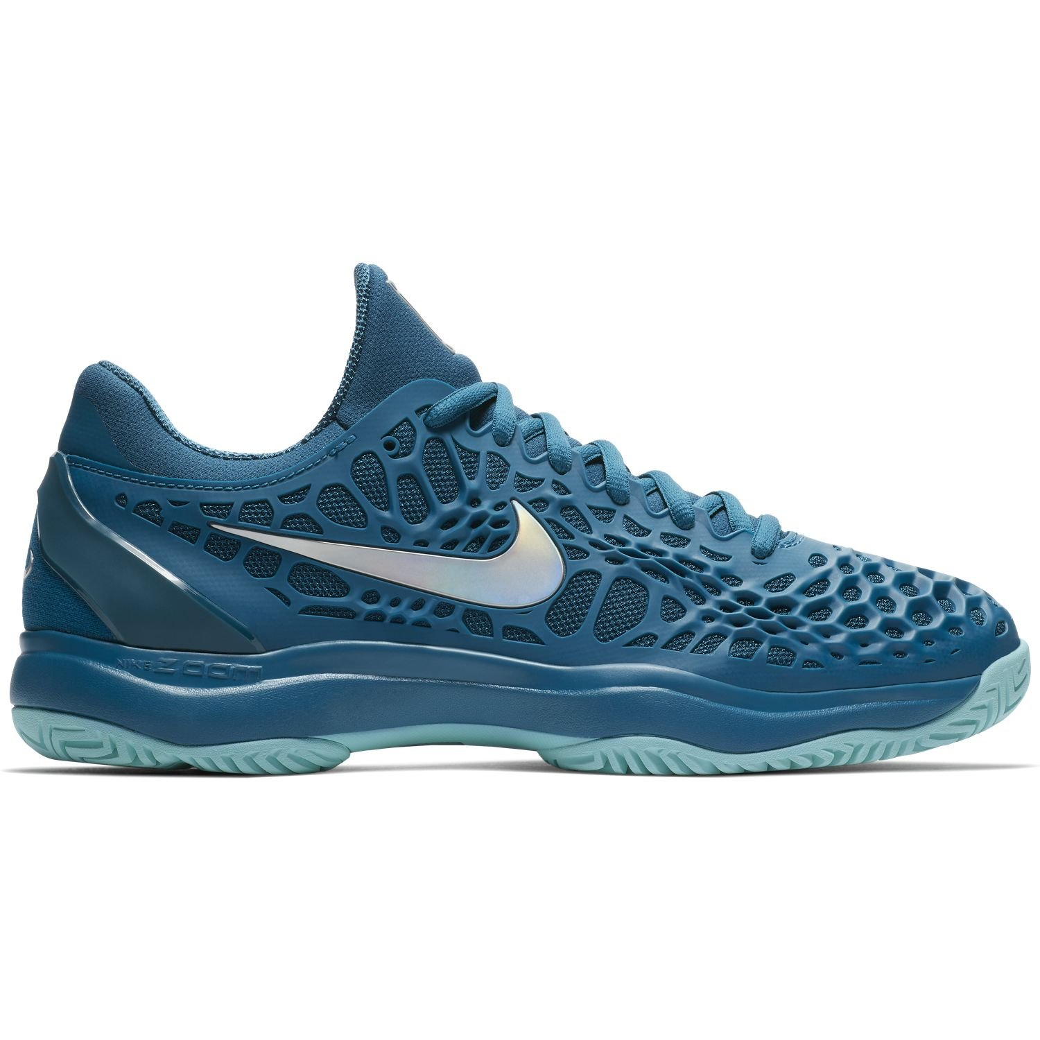 Nike Mens Zoom Cage 3 Tennis Shoes B0761Y7G38 6.5 M US|Green Abyss/Metallic Silver/Blue Force