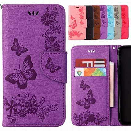 Yiizy Fundas Wiko Harry Tapa, Butterfly Diseño Carcasa Cuero ...