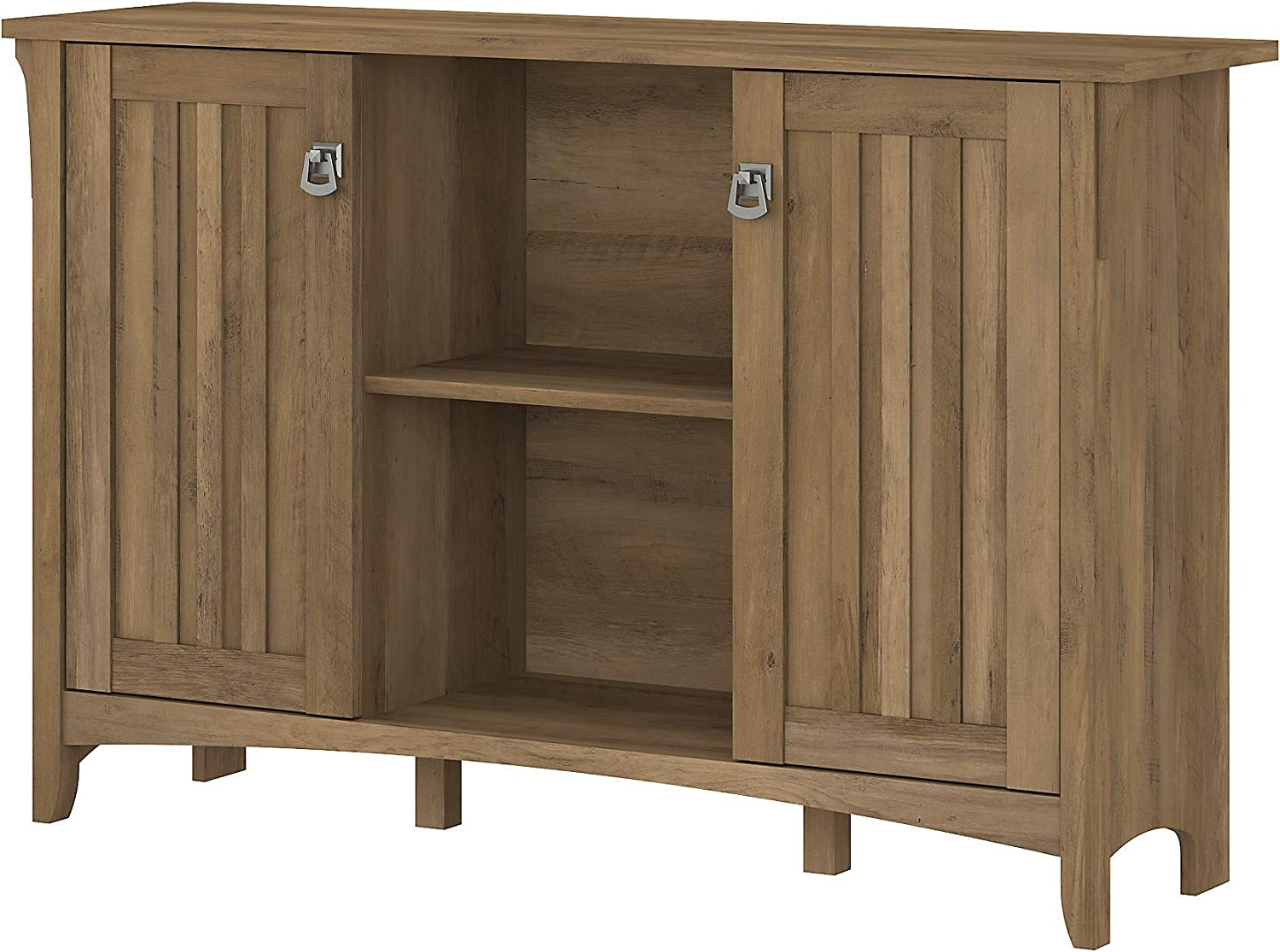Bush Furniture Salinas Accent Storage Cabinet with Doors in Reclaimed Pine
