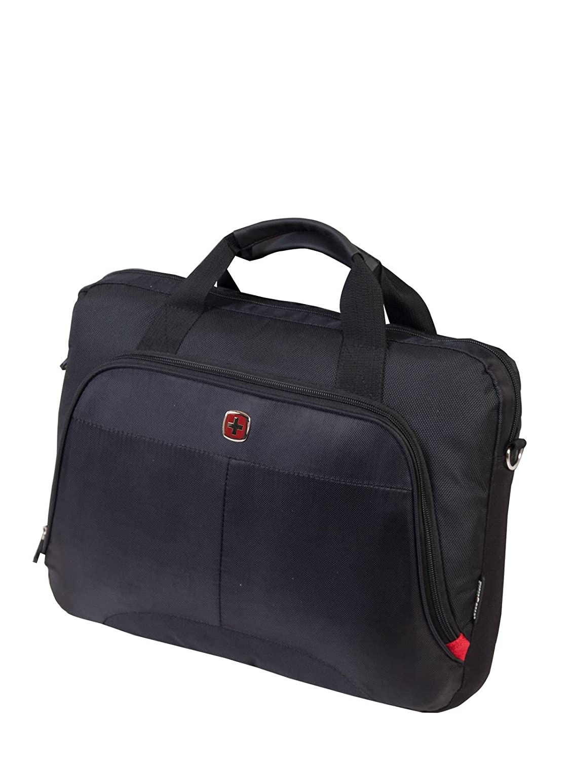 Swiss Gear Top Load Laptop Bag with Tablet Pocket, International Carry on, 15.6-Inch, Black Holiday Luggage SWA0955D009