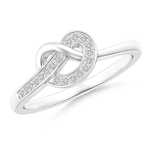 Angara Pave-Set Diamond Split Infinity Knot Ring Tk8rITJ